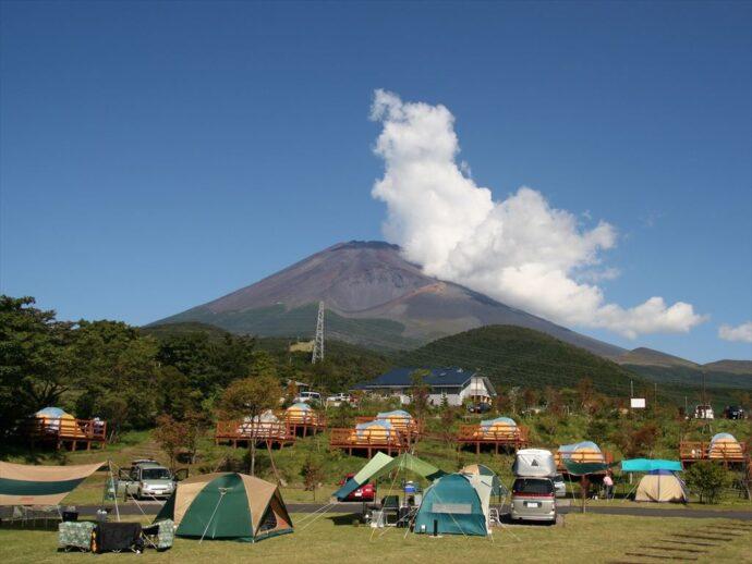 静岡県裾野市 キャンプ場